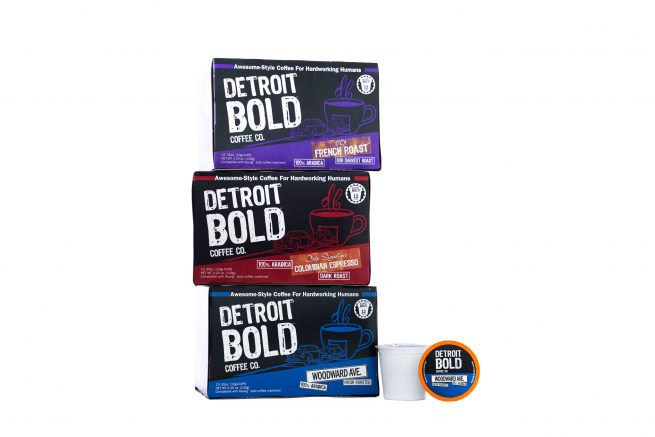 3 pack single serve coffee cups k-cup style Detroit Bold