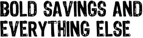 Bold Savings