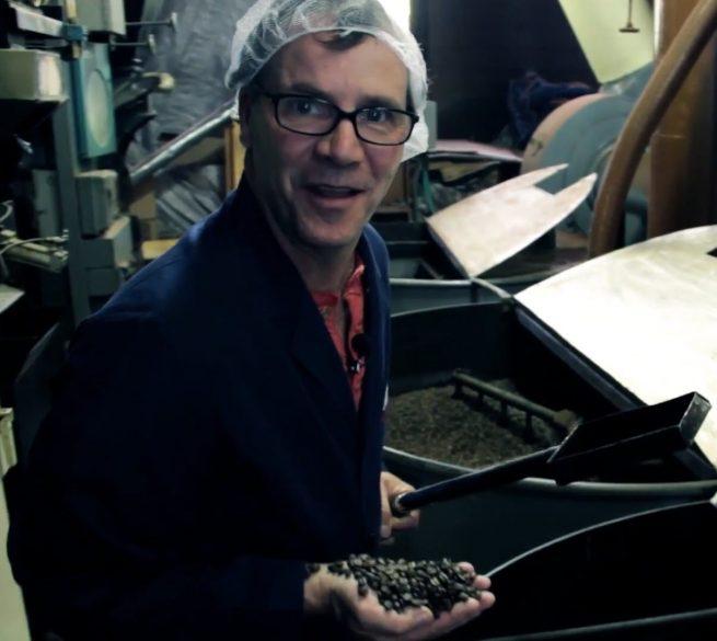 Aj making hand crafted coffee