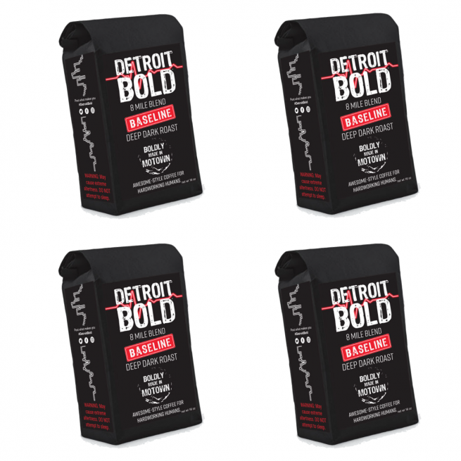 4 pound bags of Detroit Bold Coffee - Baseline 8 Mile Blend