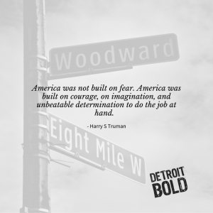 America is built on courage - detroit bold coffee is too